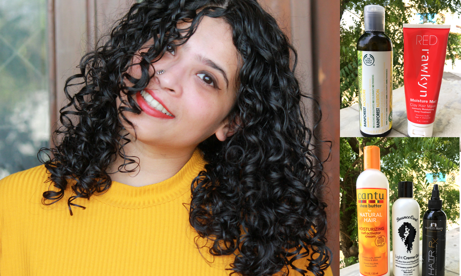 Curly hair routine diary No.4 cover picture
