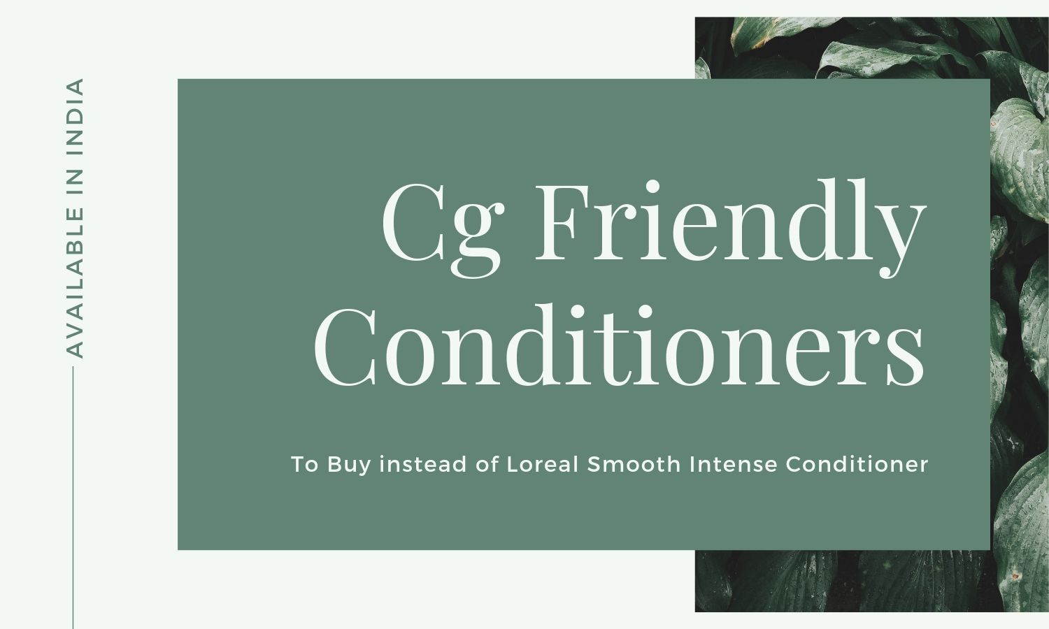 Cg Friendly Conditioners in India